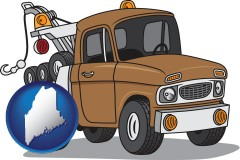 maine an automobile tow truck