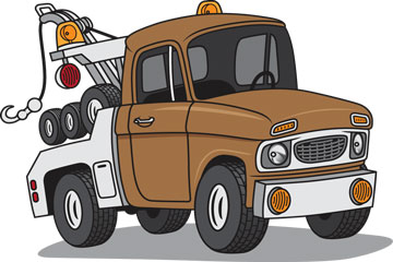 an automobile tow truck