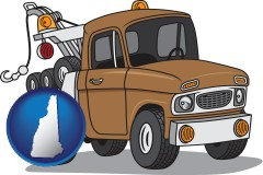 new-hampshire map icon and an automobile tow truck